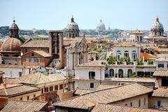 Mening van Rome van Campidoglio Stock Afbeeldingen