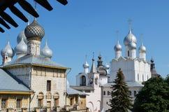 Mening van Rostov het Kremlin Rusland stock afbeelding