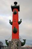 Mening van Rostral kolom in heilige-Petersburg, Rusland Royalty-vrije Stock Foto's
