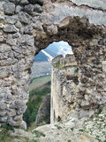Mening van ruïne van het Kasteel Lietava Royalty-vrije Stock Foto's