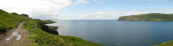 Mening van Rubh een Dunain, Eiland van Skye Stock Fotografie