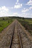 Mening van rug van trein royalty-vrije stock afbeelding