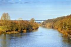 Mening van Ruhr rivier, Duitsland royalty-vrije stock afbeelding