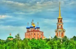 Mening van Ryazan het Kremlin in Rusland royalty-vrije stock foto