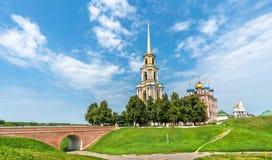 Mening van Ryazan het Kremlin in Rusland royalty-vrije stock fotografie