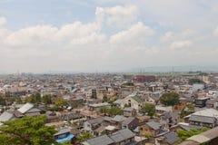 Mening van Sakai City, de Prefectuur van Fukui, Japan stock foto's