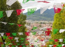 Mening van San Cristobal de Las Casas royalty-vrije stock foto's