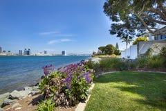 Mening van San Diego van de binnenstad van Coronado stock afbeelding