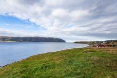 Mening van Sandy Cove in Norris Point, Newfoundland en Labrador stock afbeeldingen