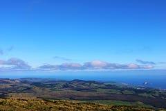 Mening van Santa Barbara-heuvel, Terceira, de Azoren stock foto