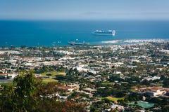 Mening van Santa Barbara van Franceschi-Park, in Santa Barbara, C royalty-vrije stock fotografie