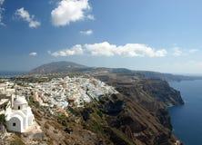 Mening van Santorini Caledra, Griekenland Royalty-vrije Stock Afbeelding