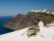 Mening van Santorini Caledra, Griekenland Stock Afbeelding