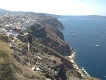 Mening van Santorini Caledra, Griekenland Stock Foto