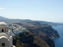 Mening van Santorini Caledra, Griekenland Stock Fotografie