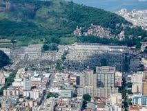 Mening van Sao Joao Batista van Botafogo en Cemiterio- Stock Afbeeldingen