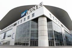 Mening van SAP-arena in Mannheim, Duitsland royalty-vrije stock afbeeldingen