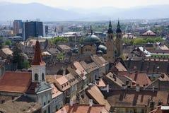 Mening van Sibiu Stock Afbeeldingen