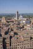 Mening van Sienna Cathedral in Toscanië stock foto