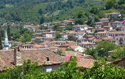 Mening van Sirince-dorp, de Provincie van Izmir, Turkije Stock Afbeeldingen