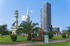 Mening van Skilines in Batumi stock afbeelding