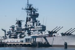 Mening van Slagschip New Jersey royalty-vrije stock afbeeldingen
