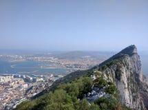 Mening van Spanje van de Rots van Gibraltar Stock Afbeelding