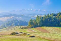 Mening van Spisz aan de Tatra-Bergketen. Royalty-vrije Stock Foto