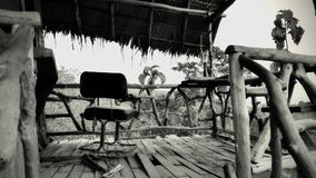 Mening van spookbungalow in Thailand royalty-vrije stock fotografie
