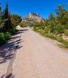 Mening van St Hilarion kasteel dichtbij Kyrenia 16 stock fotografie