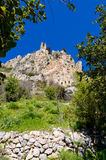 Mening van St Hilarion kasteel dichtbij Kyrenia 11 stock foto