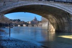 Mening van St Peter Basilica Royalty-vrije Stock Foto