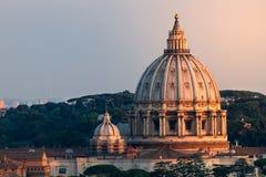 Mening van St Peters Dome At Sunset stock fotografie