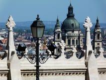 Mening van St Stephen ` s Basiliek, Boedapest, Hongarije royalty-vrije stock afbeeldingen