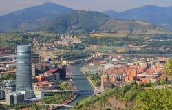 Mening van stad Bilbao, Spanje royalty-vrije stock foto
