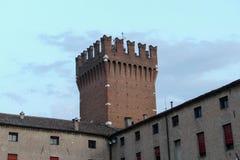 Mening van stad Ferrara Stock Fotografie