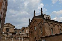 Mening van stad Ferrara Stock Afbeelding