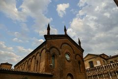 Mening van stad Ferrara Royalty-vrije Stock Afbeelding
