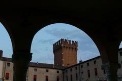 Mening van stad Ferrara Royalty-vrije Stock Fotografie