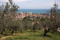 Mening van stad Montesilvano stock afbeeldingen