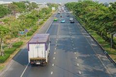 Mening van stadsweg van viaduct royalty-vrije stock afbeelding
