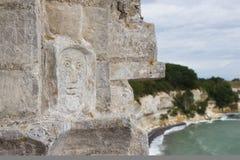 Mening van Stevns Kliff - een kalksteenklippen in Denemarken Royalty-vrije Stock Fotografie