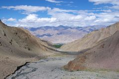 Mening van Stok, Ladakh, Jammu And Kashmir, India Royalty-vrije Stock Foto's