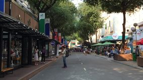 Mening van straat in Saigon, Vietnam stock video