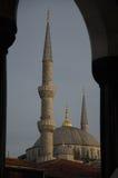 Mening van Sultanahmet Camii, Blauwe Moskee, Istanboel Royalty-vrije Stock Foto's