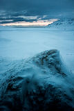 Mening van Svalbardhytta Royalty-vrije Stock Fotografie