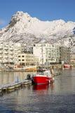 Mening van Svolvaer-haven Stock Fotografie