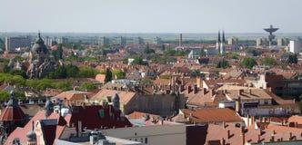 Mening van Szeged stock afbeelding