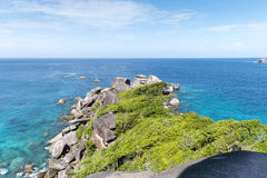Mening van Tachai-eiland, Thailand Stock Afbeelding