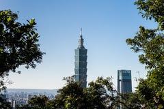 Mening van Taipeh 101 de bouw van het wereldhandelscentrum Royalty-vrije Stock Foto